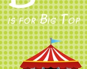 Circus/Carnival ABC Flashcards or wall hanging