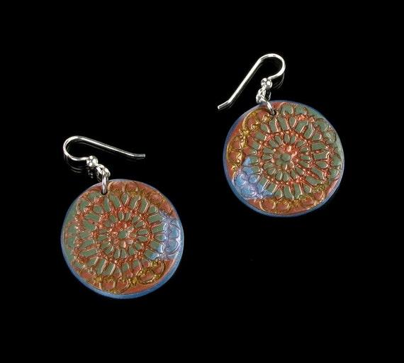 Polymer Clay Dangle Earrings - Drop Earrings - Polymer Clay Jewelry - Sterling Silver Earrings - Clay Earrings - Polymer Earrings