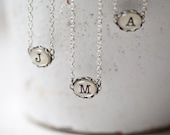 Initial necklace - Personalized Monogram necklace - Bridesmaids jewelry - Initial jewelry  (N084)