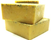 Lemon Poppyseed Soap - Vegan Gift Soap - superfatted with nourishing coconut milk and healing shea butter