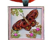3D Red Butterfly Pendant