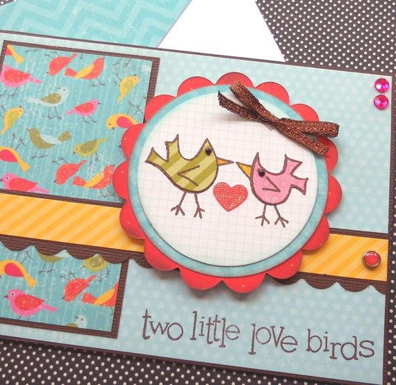 Love / Wedding / Anniversary Card with Matching Embellished Envelope - Love Birds