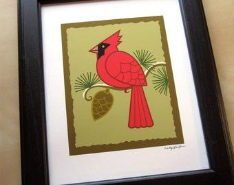 Cardinal Giclee Print