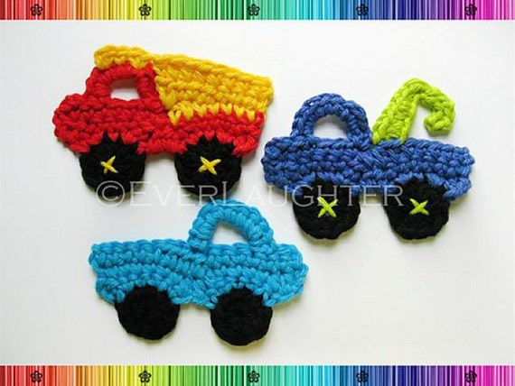 Free Crochet Patterns For Your Car : Truck Dump Truck Tow Truck Applique CROCHET PATTERN