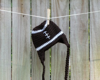 3 to 6 month Football Earflap Winter Hat