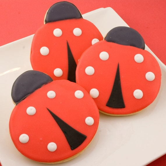 Ladybug Cookie Favors (12 favors, bagged & bowed)