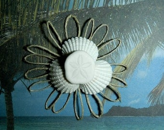 Sand Dollar Seashell Boutonniere or Corsage - Seaflower