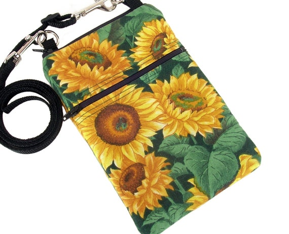 Small Shoulder Bag, Cross Body Bag, Sling Purse in Sunflowers