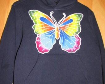SALE -Butterfly Kids' Hoodie - size 10 - 50% off!