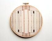 The Book Collection Fabric Art - 6 inch hoop - Modern Wall Hanging - Embroidery Hoop Art - Photograph on Fabric - Textile - Library