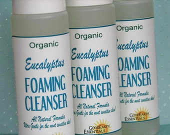 Organic Eucalyptus Foaming Soap - natural and safe for sensitive skin, refreshing effective foaming soap