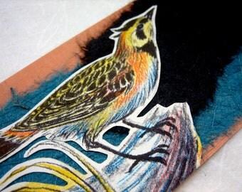 BOOKMARK - Horned Lark - Birds