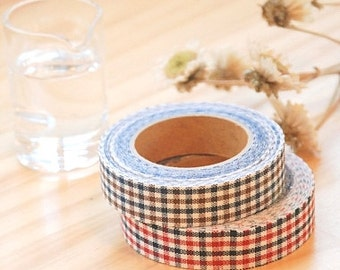 Decollections Fabric Masking Tape - Gingham Checks - 2 Tone
