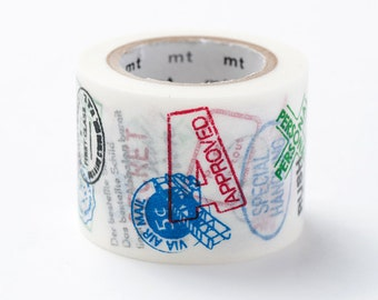 mt ex Washi Masking Tape - Airmail Postage Stamps