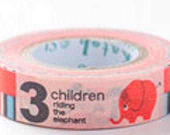 Shinzi Katoh Masking Tape - 3 Children & Elephant - Discontinued