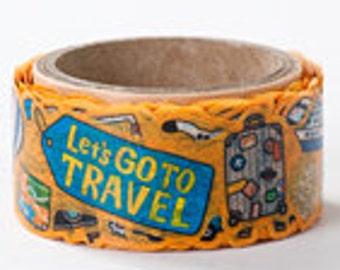 Round Top Masking Tape - Travel - Die Cut
