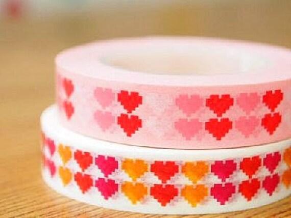 Funtape Masking Tape - Hearts - Slim Set 2