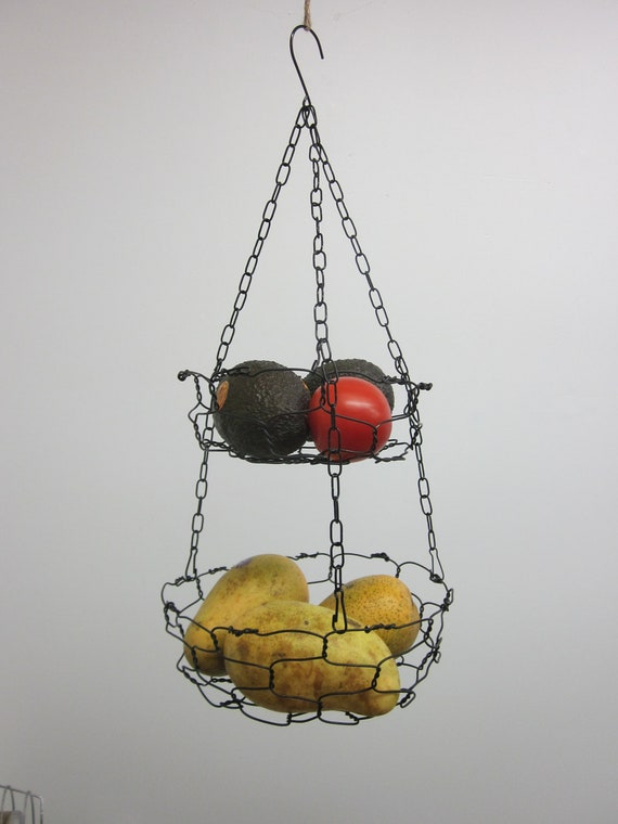 Handmade Two Tier Hanging Basket