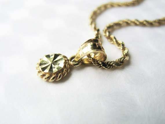 14KT Yellow Gold 2mm Rope Chain and Star Medallion Pendant