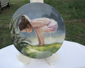 """The Fourth Plate in the Wonder of Childhood Collection """"Small Wonder""""  by Donald Zolan 1985"""