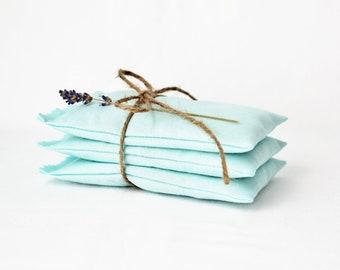 Aqua Blue Lavender Sachets, Organic Drawer Sachets, Unique Bridesmaid Gift