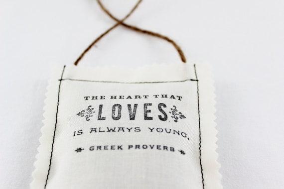 Inspirational Quote Sachet, Creamy White Lavender Sachet Greek Proverb, Best Friend Gift