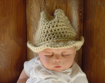 Baby Cowboy Hat,  3 to 6 Months, 6 to 12 Months, Photo Prop
