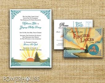 Finger Lakes Wedding Invitation