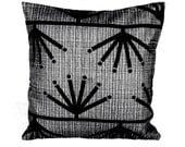 """Sale Black snowflake pillow modern pattern 16"""" x 16"""""""