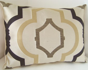 Trellis Pillow Cover Brown Pillow Decorative Throw Pillow Accent Cushion