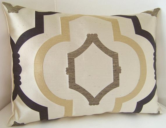 Trellis Pillow Cover Brown Pillow Decorative Throw Pillow Accent Cushion