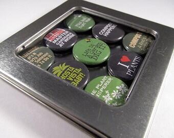 Gardeners Magnet Set / Refrigerator Magnets / Locker Magnets / Ready for Gift Giving / Gardening