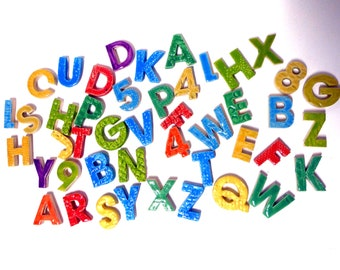 Colorful Ceramic Letters 2 dollars  each