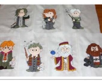 Harry Potter Wizards Plus Machine Embroidered Quilt Blocks Set