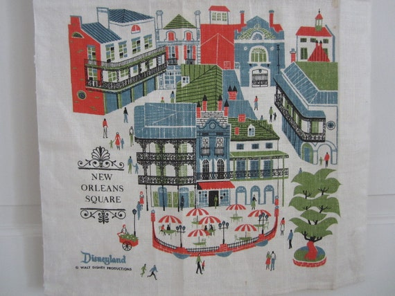Vintage Towel Disneyland New Orleans Square