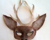Leather Deer Mask / Deer Costume for Halloween