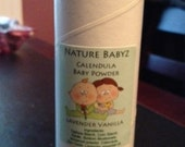 All Natural Calendula Baby Powder  High Quality ingredients   Organic Baby Lavender Vanilla Powder  Talc Free