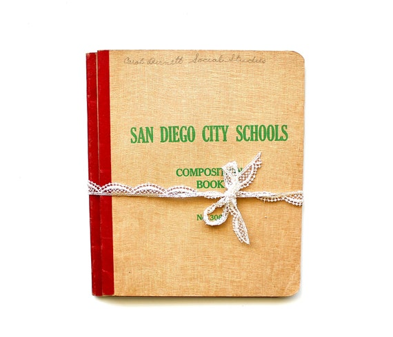 Can I Borrow Your Notes - Vintage School Composition Books - Vintage Social Studies Notebooks