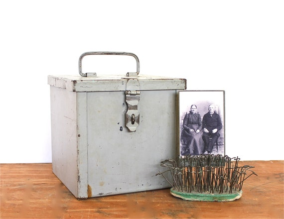 Heavy Duty Holding - Vintage Industrial Box - Vintage Metal Box