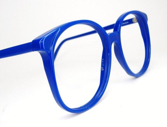 Vintage 80s Oversized Lens Eyeglasses Blue Tura Frame Mod. 641