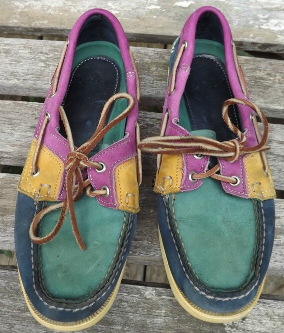 Reserved Ladies Colorful Sebago Docksides Boat Shoes Loafers Size 7.5