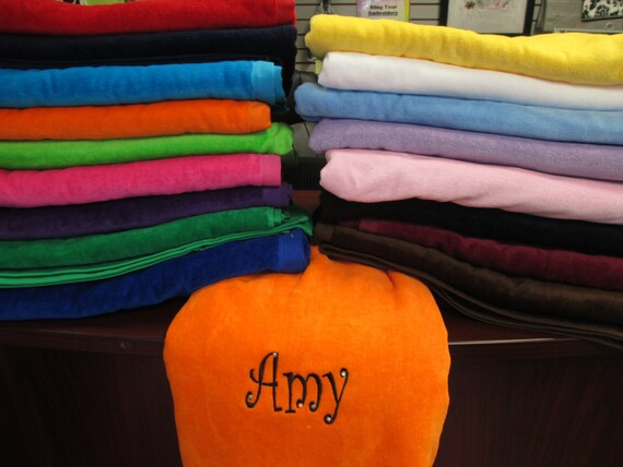 Pool Towel Personalized Velour