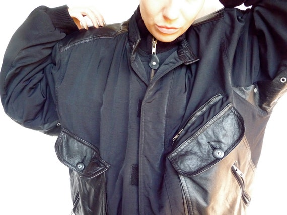 80s Lizwear Warm Synthetic and Leather Jacket
