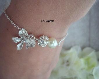 Orchid Elegance Bracelet - Pick your Color