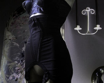 Dark Ladies Wear  LADY OCTAVIA Girdle....10 Strap....Long Line....High Waist... .Girdle/Suspender Belt