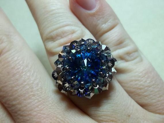 KIT Raging Rivoli Ring Blue Colors