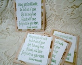 Stamped Layered Paper Embelishments for crafting or sharing. your choice of one 4pc set (5933,36,37,39)