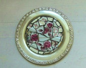 Silver plated Mosaic dish Repurposed - ReclaimedDesigns