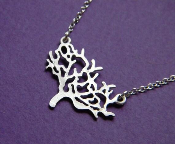 Silver Simplicity Tree Necklace - Bridesmaid Necklace - Bohemian Necklace - Bridesmaid Gift