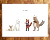 F is for Fox Card